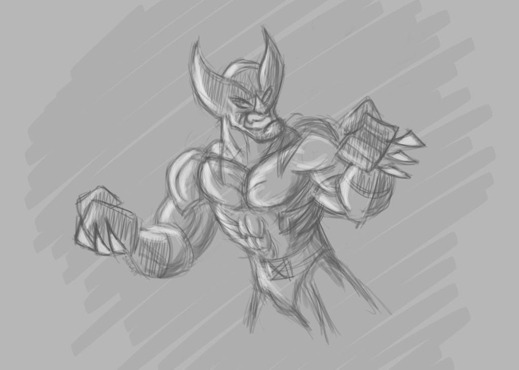 WolverineSketch3.20.17 by Radicaljman