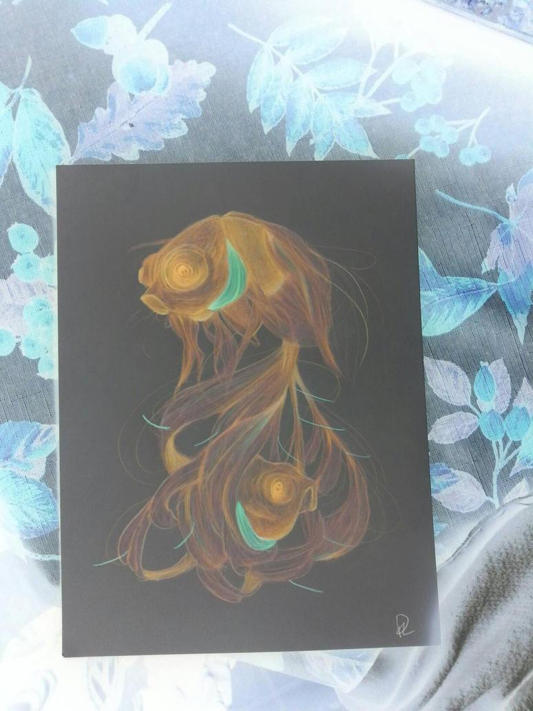 whoa gold fish  by kotakitty262