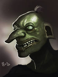 Ugly Goblin by IcedEdge