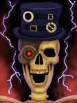 Steampunk skeleton by IcedEdge