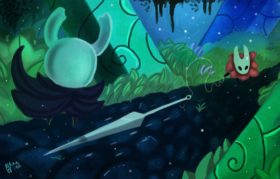 Hollow Knight Hornet fight by IcedEdge