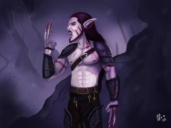 Elf Vampire by IcedEdge