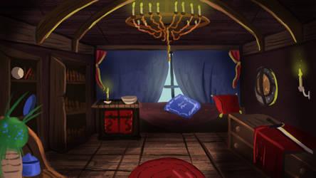 Beatrix room visual novel background by IcedEdge