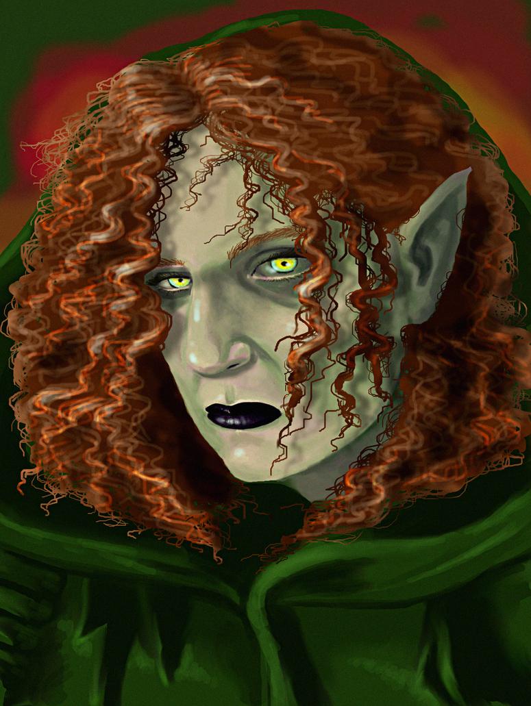 Half Drow by MaevesChild