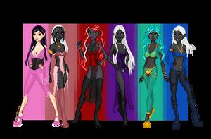 The Ladies of the 'Dark by AngelMorrigan