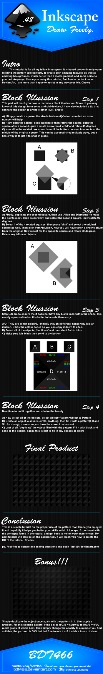 Block Illusion - Pattern by BDT466