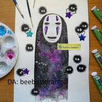 Galaxy No Face (original fan art) by beebesterart