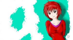 Disheveled manga girl