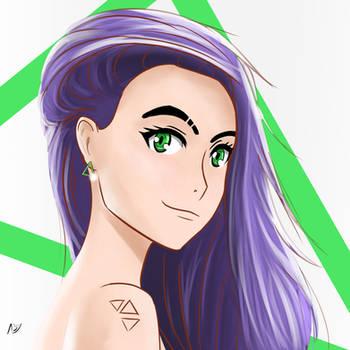 Purple Hair Girl + Time Lapse Video