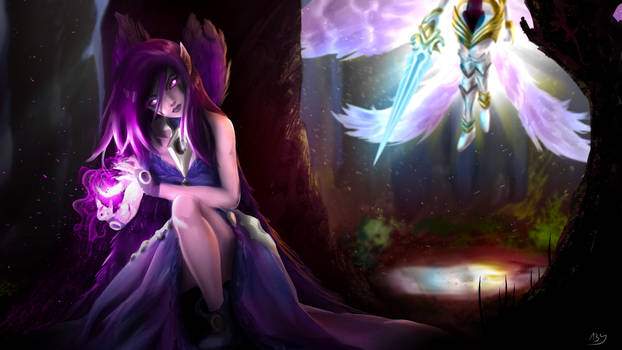 Come with me! - Morgana and Kayle fanart