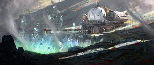 Mining station anomaly by GG-arts