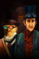 The Brothers Grimm by elbarien