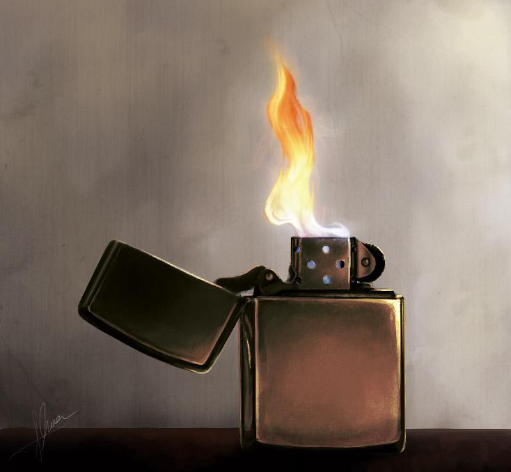 Zippo Lighters Flame Zippo Lighter b...