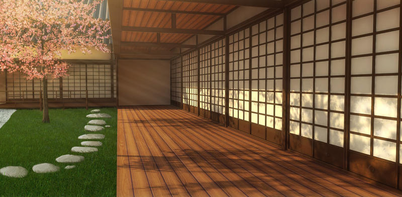 Traditional Japanese House by RustyStorm