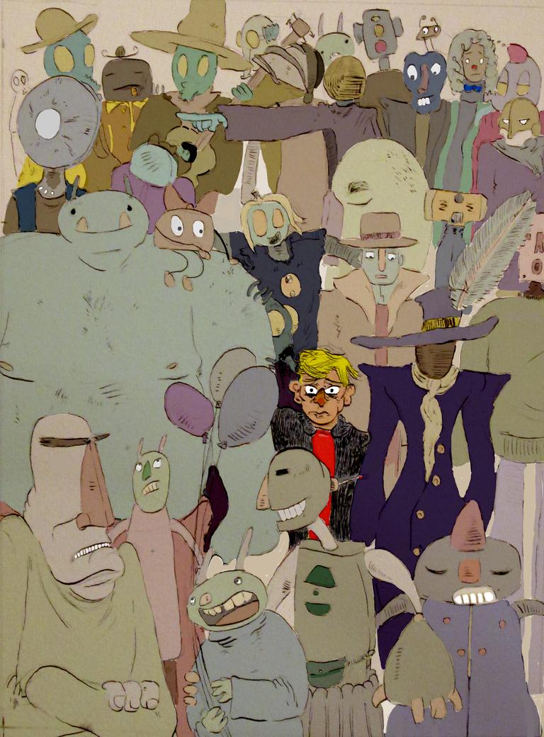 Crowded! by Sono-Ketsuraku-Rinku