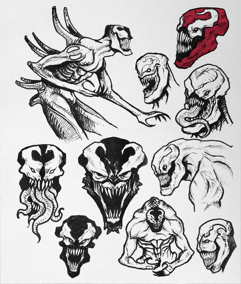 Sketchdump#5 - Venom and Carnage by Orboroth