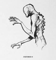 Inktober #1 - The faceless Thing