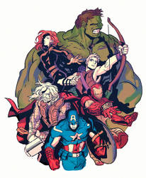 the avengers by dogsup