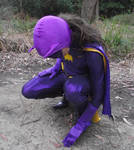 66 Batgirl Cosplay - Investigating in the Woods