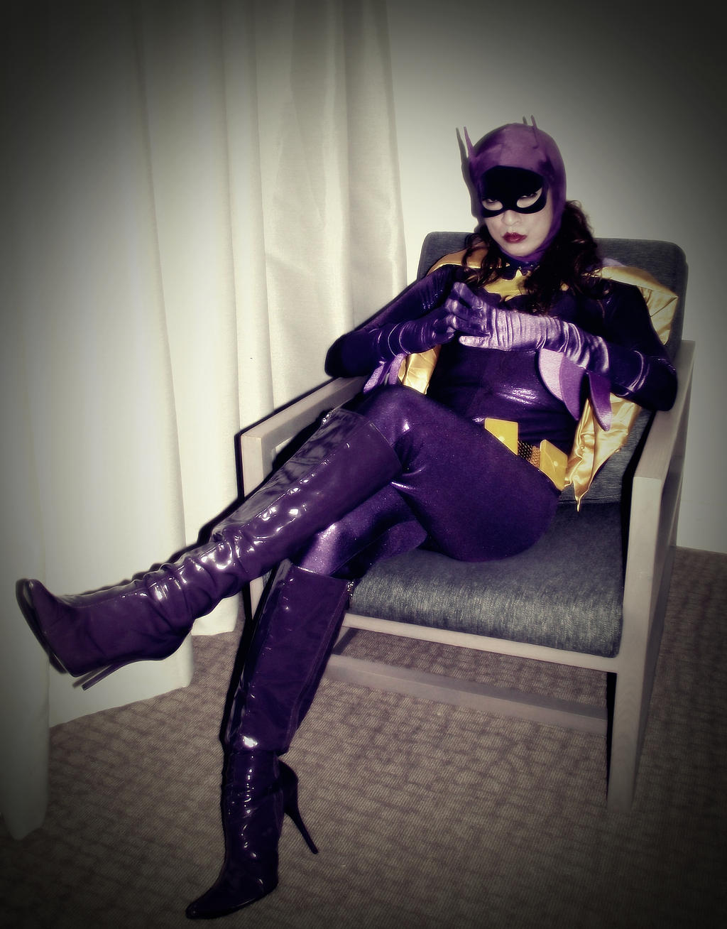 66 Batgirl Cosplay Photo Story Chapter1 - Visitor by ozbattlechick