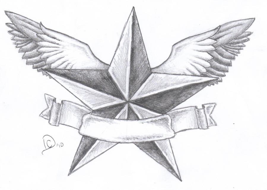 Texas Star Tattoos Designs