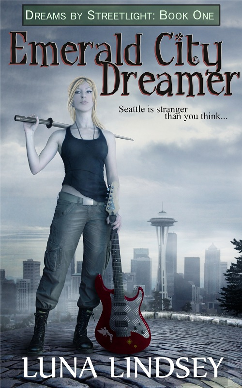 Emerald City Dreamer - book cover by LuneBleu