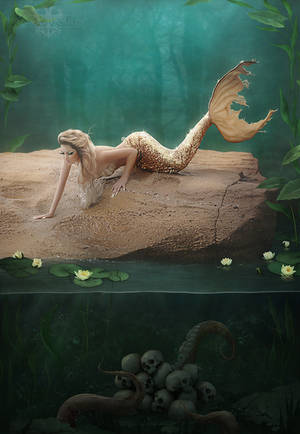 A mermaid's mournful serenade by LuneBleu