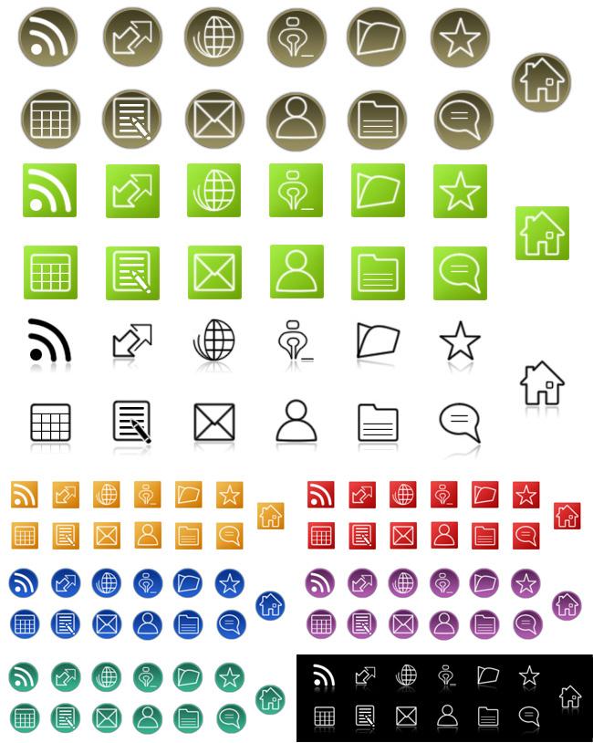 Blog Icons by ~reviewsaurusdotcom