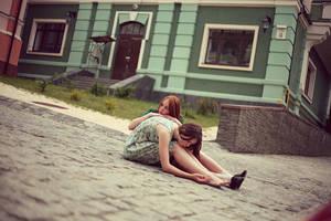 two sleepy people by tokarchuk
