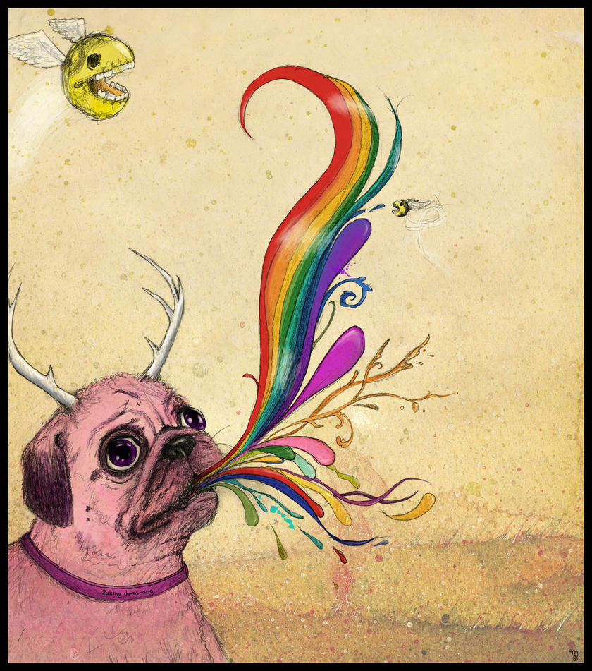 Deer-Doggy is puking rainbows by XxMortanixX