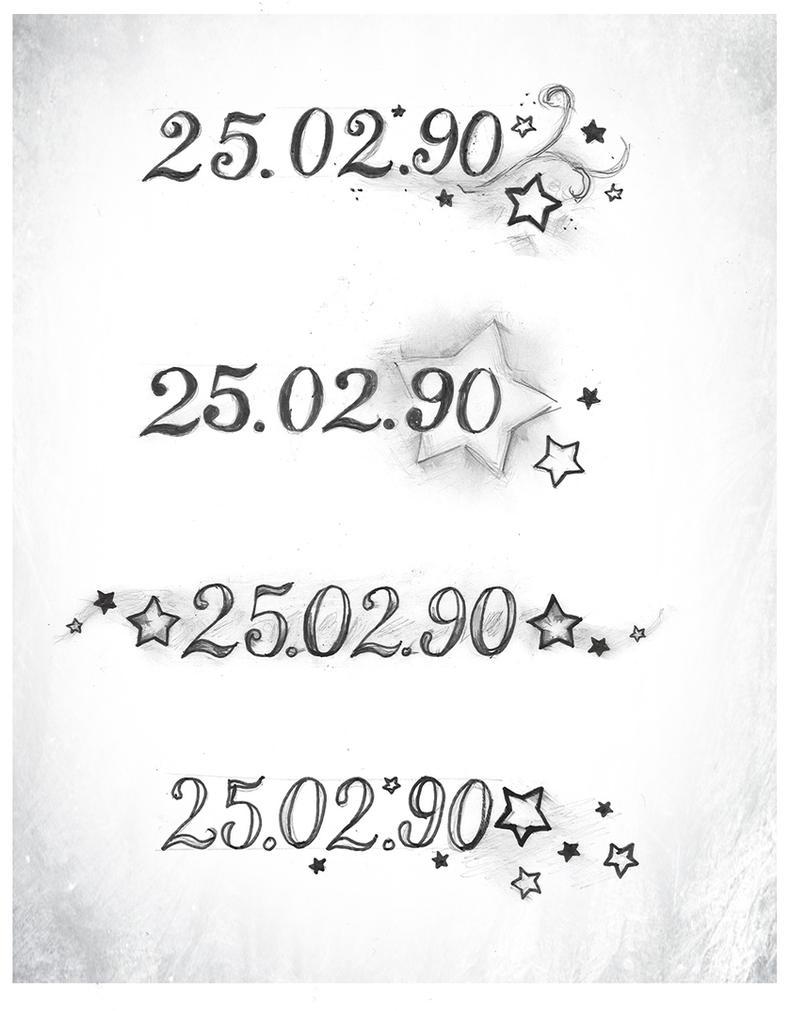Date of birth foot tattoo by xxmortanixx on deviantart for Birthday tattoo ideas