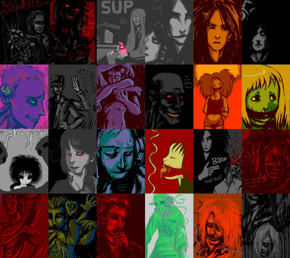 Demon Collage by SulphurSpoon