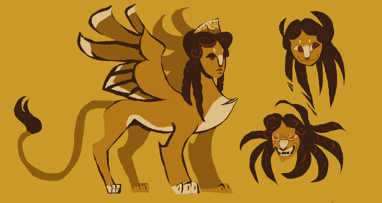 sphinx sketches by Spoonfayse