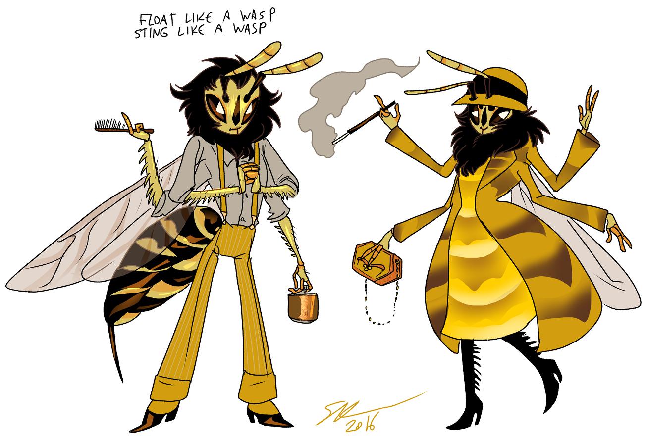 angry queen bee cartoon