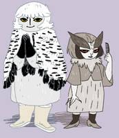 owl ladies by Spoonfayse