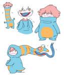 vaguely clowny creature