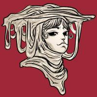 woman draped in slime