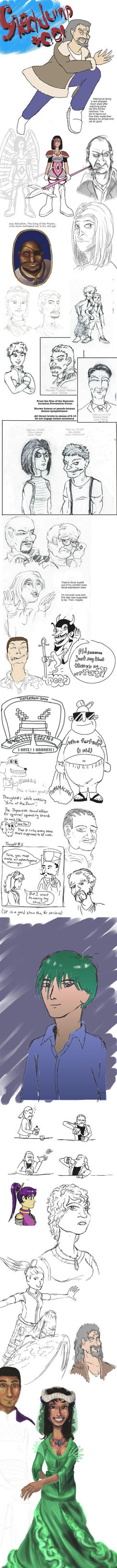 March 2015 Sketchdump by FieldsOfFire