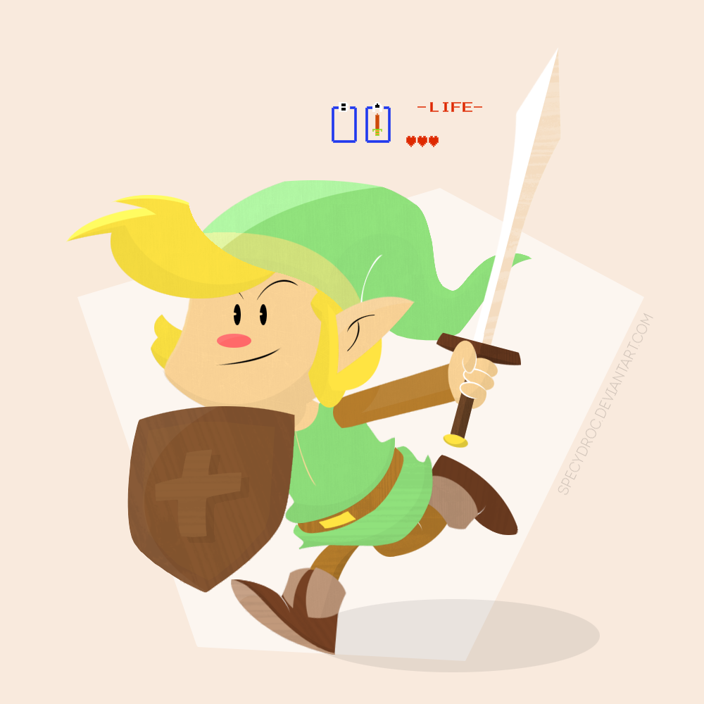Link - The Legend of Zelda by specydroc