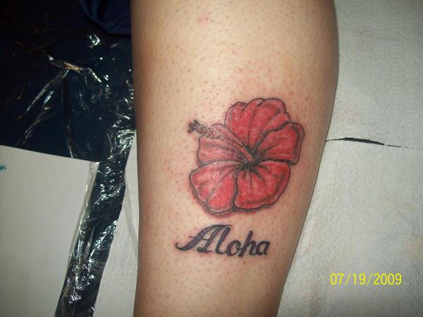 hibiscus flower - flower tattoo