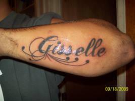 script name tattoo by dannewsome