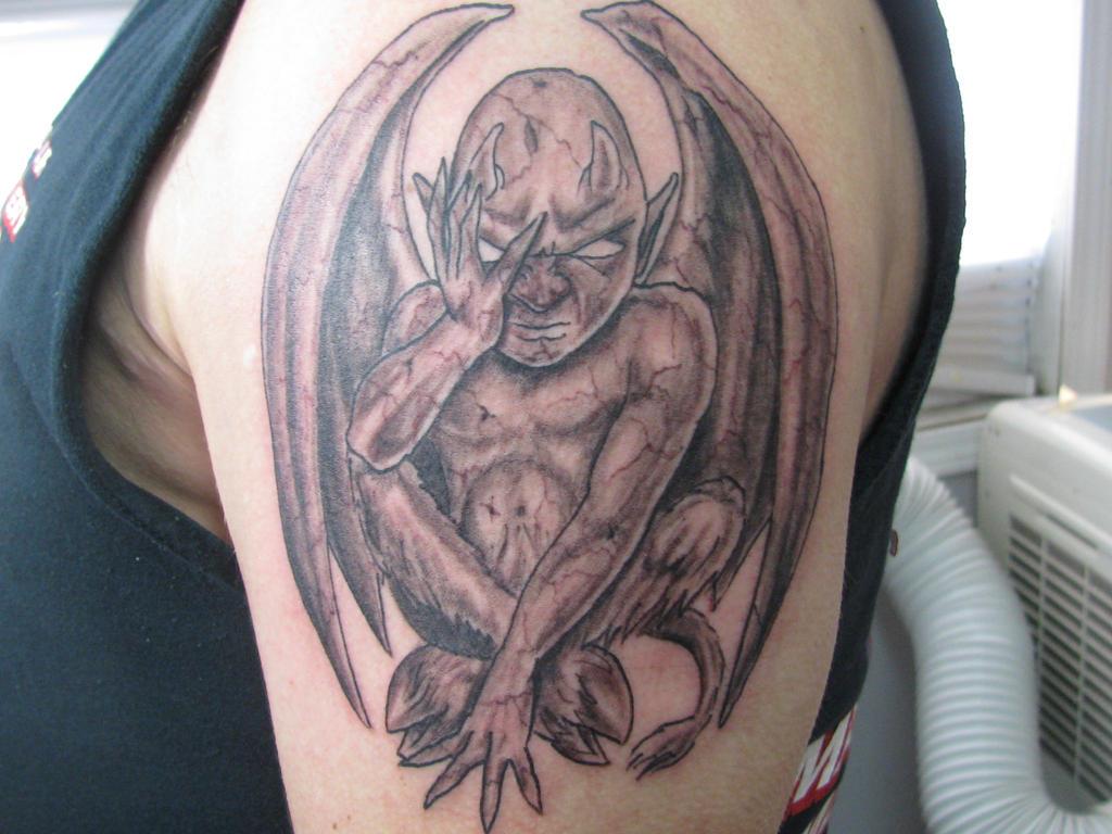 devil baby tattoo