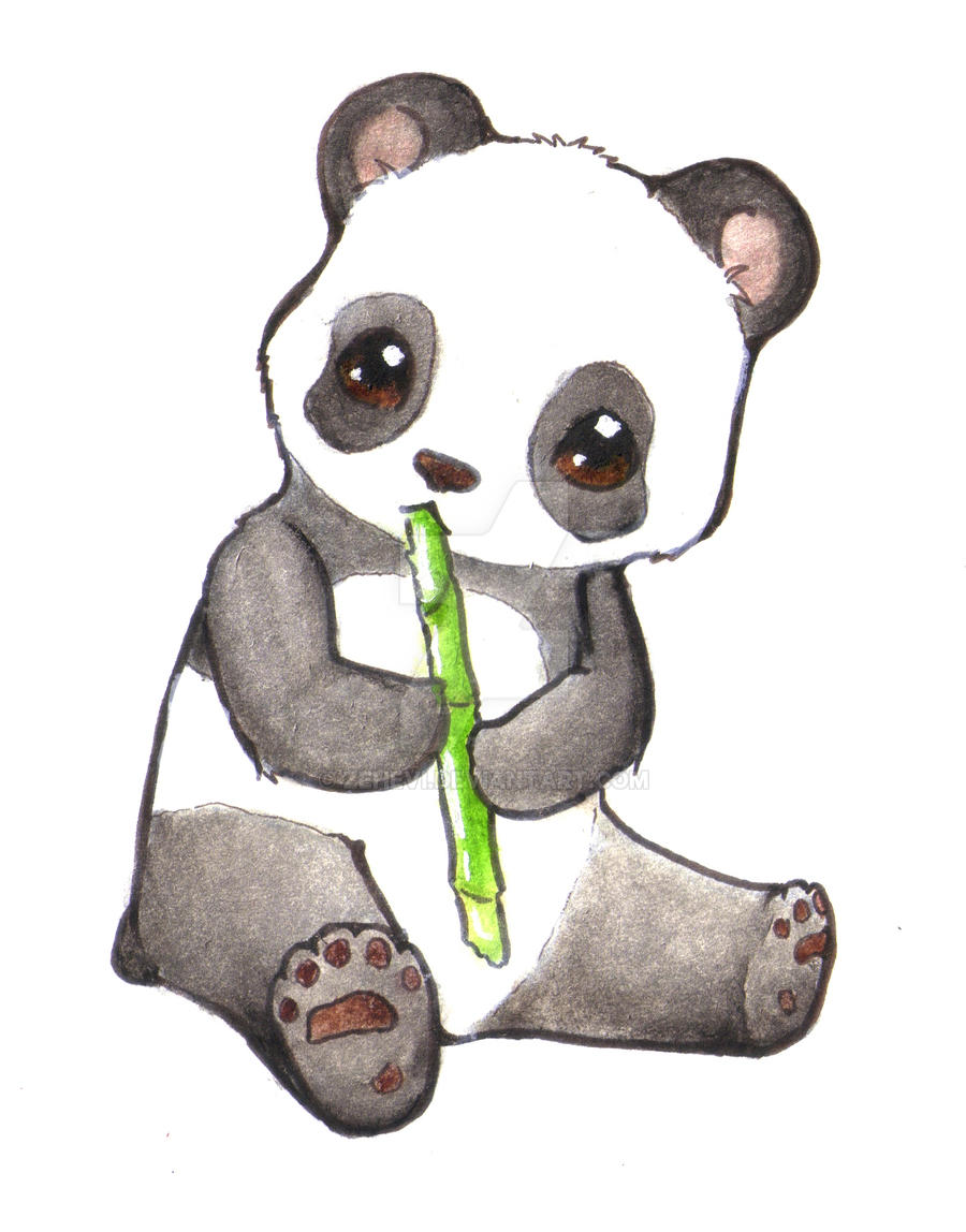 Panda Cub By Zehevi Watch Traditional Art Drawings Animals 2011 2017