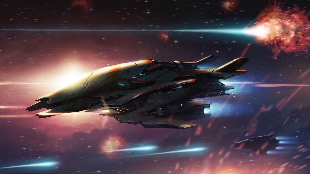 Alien Space Fighter by Kuren
