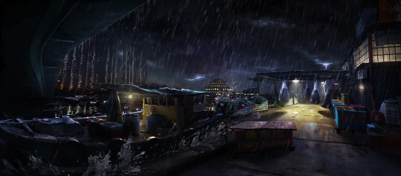 Sleeping Dogs concept - Welcome to Hong Kong by Kuren