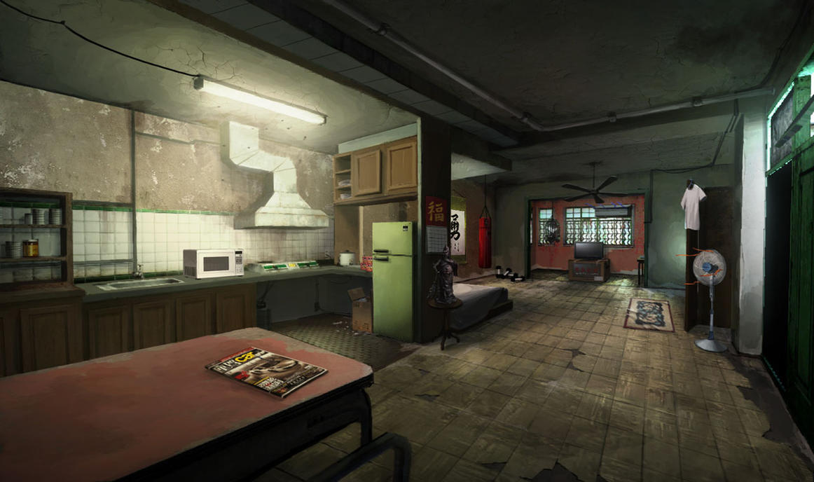 Sleeping Dogs - North Point Safehouse interior #1 by Kuren