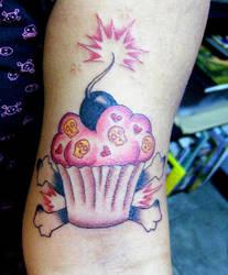 cupcake tattoo by mysmileisweak