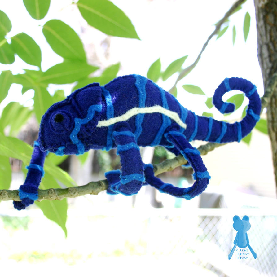 Blue Striped Chameleon 2 By Quirkandbramble On DeviantArt