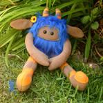 Blue and Orange Huggle 2 by quirkandbramble