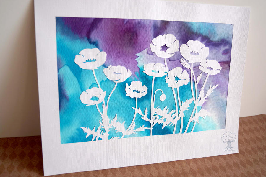 Papercut Poppies 1 by quirkandbramble